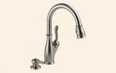 Leland Kitchen Single Handle Pull Down Faucet