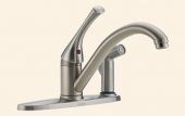 Classic Single Handle Kitchen Faucet with Integral Spray