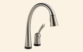 Pilar Single Handle Pull-Down Kitchen Faucet with Touch2O Technology®