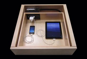 custom kitchen charging station